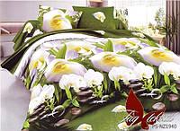 Комплект постельного белья полуторный PS-NZ1940 ТМ TAG 1,5-спальный, постельное белье полуторка