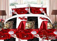 Комплект постельного белья полуторный PS-NZ1943 ТМ TAG 1,5-спальный, постельное белье полуторка