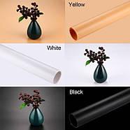 120x60см Набор фонов для фотобокса Puluz PKT5200 (черный, белый, желтый), фото 7