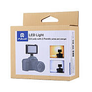 10,5x8,8x3,5см Накамерне світлодіодний світло - панель Puluz PU40112 Led, фото 10