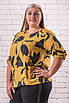 Модные блузки женские большого размера  52-58 оверсайз серый, фото 2