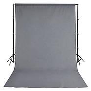 3х3м Фон студійний тканинний Visico PBM-3030 grey - СІРИЙ, фото 4