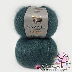 Пряжа Gazzal Queen Квин, №7333, мор. волна