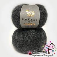 Пряжа Gazzal Queen Квин, №7334, т. серый