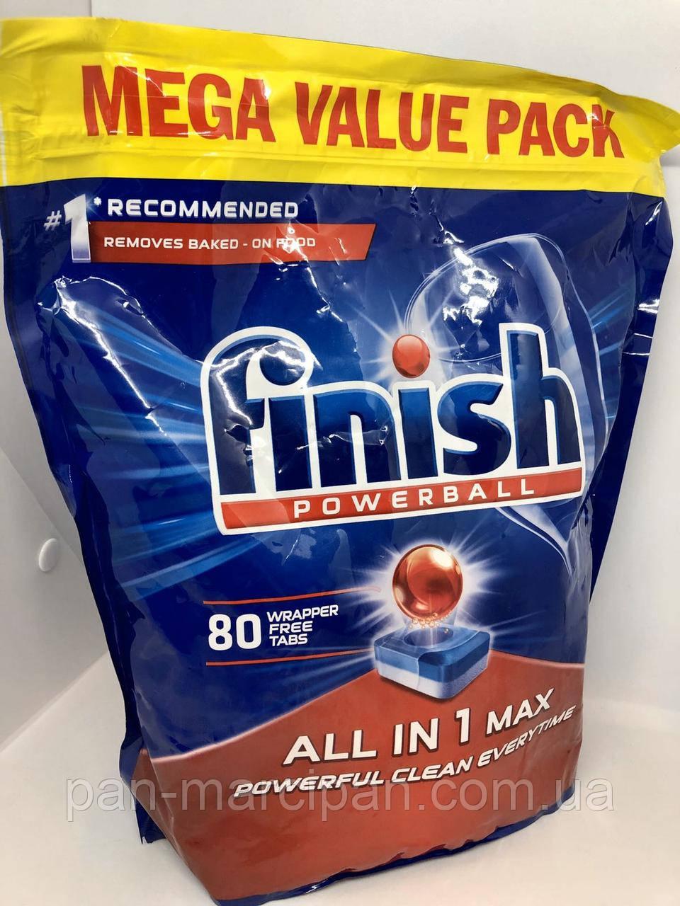 Таблетки для посудомийної машини Finish All in 1 Max 80 шт