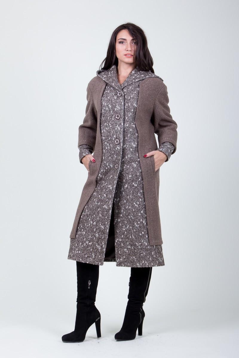 Пальто S-219 Серо-коричневый
