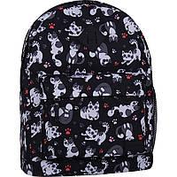 Рюкзак Bagland Молодежный (дизайн) 17 л. сублімація 776 (00533664) с принтом кошки кошечки котята с котятами