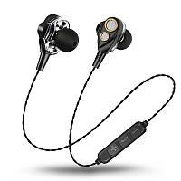 Бездротові Bluetooth стерео навушники Dual Dynamic SMN15 microSD Чорний