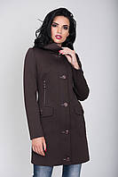 Пальто 2-385 Черный шоколад