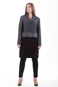 Пальто S-202 Черный меланж