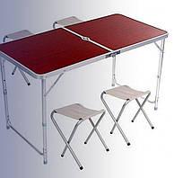 Стол для пикника укрепленный + 4 стула