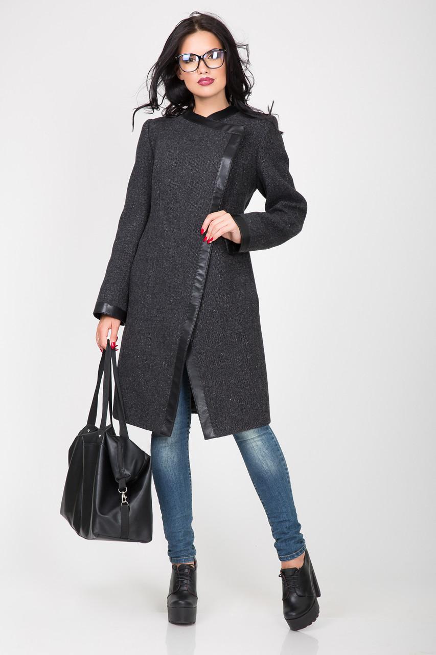 Пальто 2-391 Темно-серый