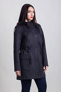 Пальто S-226 Черный меланж
