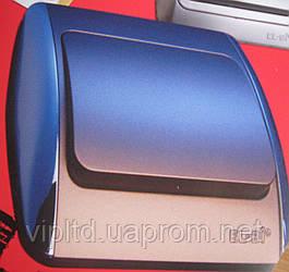 Выключатель ZIRVE синий металлик