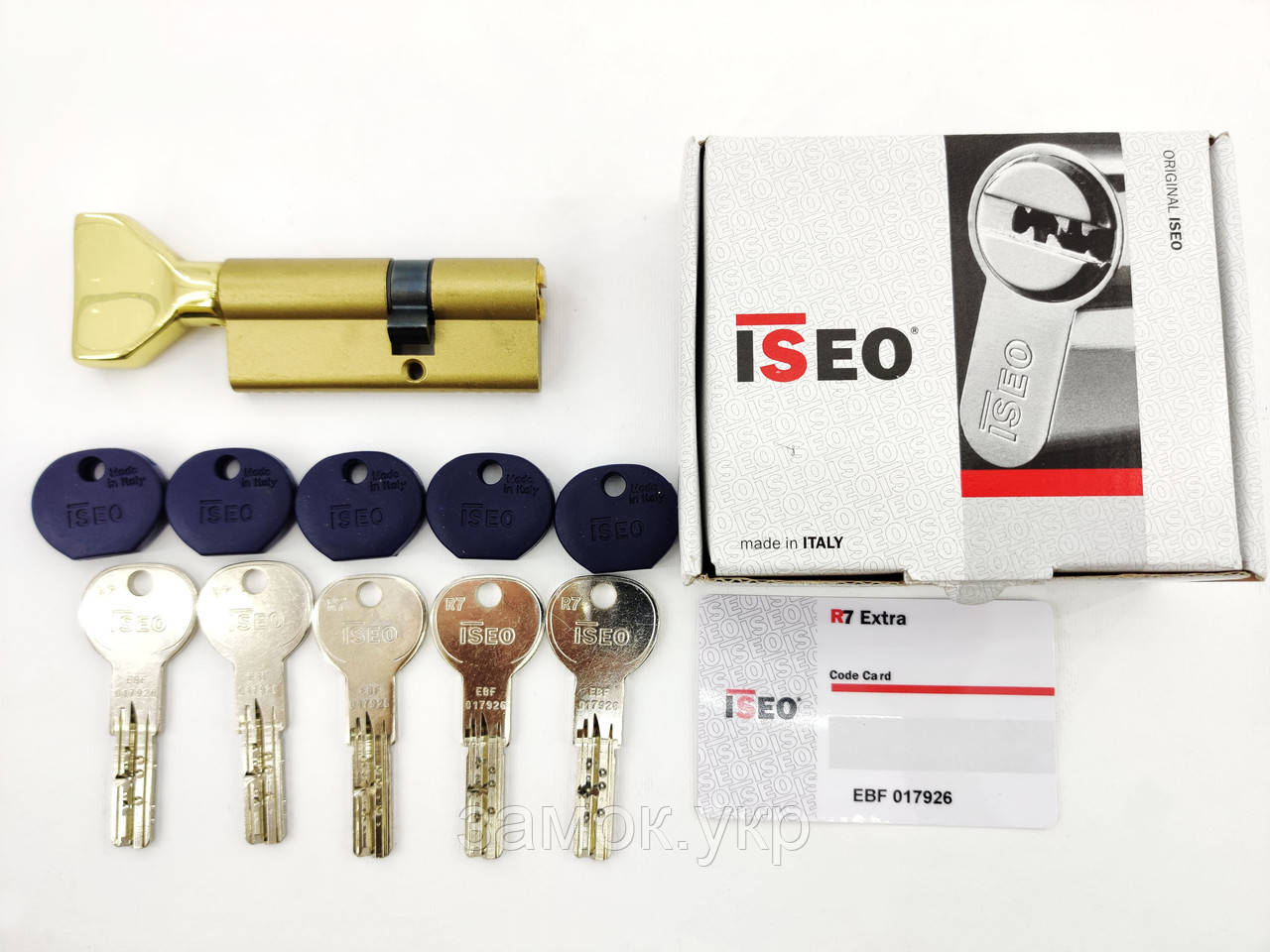 Iseo R7 100мм 55х45 ключ/тумблер латунь (Италия)
