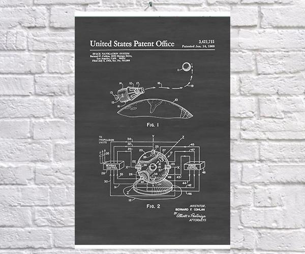 Постер BEGEMOT Патент-чертеж Навигационная система 40x61 см Черный (1120627)