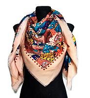 Яркий платок Кошки, бежевый