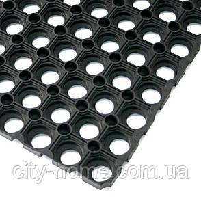 Коврик резиновый сота рулонный 100 х 900 х 1,6 см чёрный, фото 2