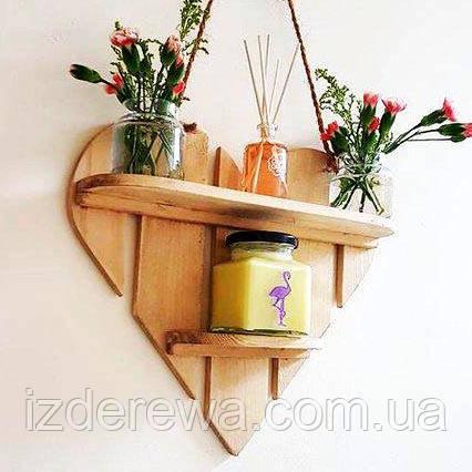 "Настенная полка ""Намасте"" ваниль"