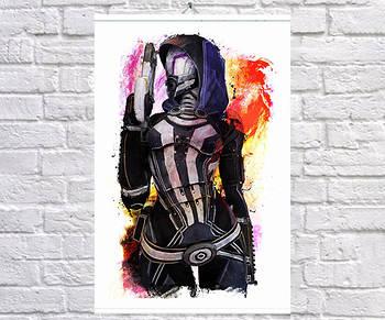 Постер плакат BEGEMOT Игра ME Mass Effect Тали'Зора Tali'Zorah 61x90 см (1121442-1)
