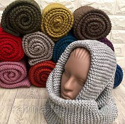 Женский теплй вязаный хомут-снуд (в расцветках)