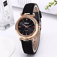 Женские наручные кварцевые часы Gold/Black, жіночий наручний годинник