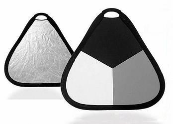 Експозиційна панель Visico TR-053 black/gray/white (60см)