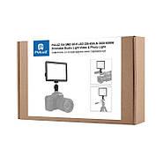 17,5x16,1x3см Светодиодный свет - панель на камеру / стойку Puluz PU4104E Led Energy Kit, фото 4