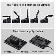 17,5x16,1x3см Светодиодный свет - панель на камеру / стойку Puluz PU4104E Led Energy Kit, фото 7