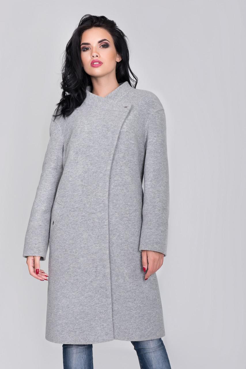 Пальто S-233 Светло-серый