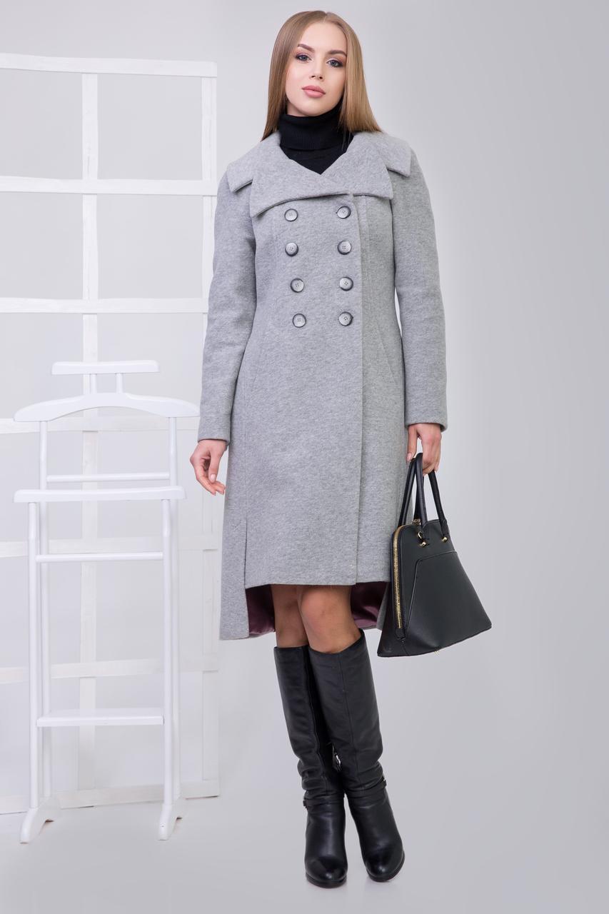 Пальто 2-464L Светло-серый