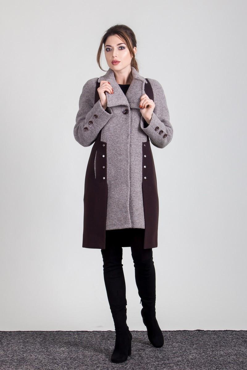 Пальто S-2008 Дымчато коричневый