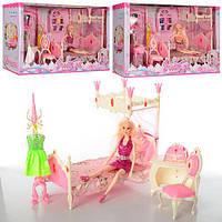 Мебельдля куклы барби Спальня в классическом стиле, кукла, кровать, трюмо, мебель для домика барби, 889