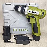 Шуруповерт аккумуляторный Eltos ДА 12/2 Li в кейсе