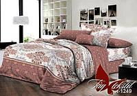 Комплект постельного белья полуторный с компаньоном R1249 ТМ TAG 1,5-спальный, постельное белье полуторка
