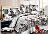 Комплект постельного белья полуторный R2023 ТМ TAG 1,5-спальный, постельное белье полуторка