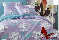 Комплект постельного белья полуторный с компаньоном R3002 ТМ TAG 1,5-спальный, постельное белье полуторка