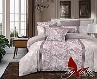 Комплект постельного белья полуторный R2023begie ТМ TAG 1,5-спальный, постельное белье полуторка