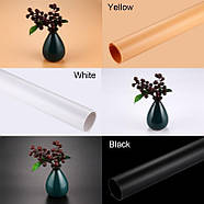 70х130см ПВХ чорний Фон для зйомки Visico PVC-7013 Black, фото 4