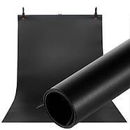 70х130см ПВХ чорний Фон для зйомки Visico PVC-7013 Black, фото 7