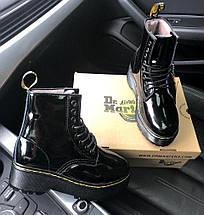 Женские зимние ботинки Dr. Martens Jadon Patent | Platform Boots с мехом, фото 3