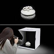 40х40х40см Photobox з підсвічуванням AccPro PS-02 для предметної зйомки, фото 4