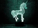 """Сменная пластина для 3D светильников """"Единорог 2"""" 3DTOYSLAMP, фото 2"""
