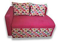 Диван детский Шпех 80см малыш раскладной (Слоники + розовый). Диванчик со спальным местом 2 метра