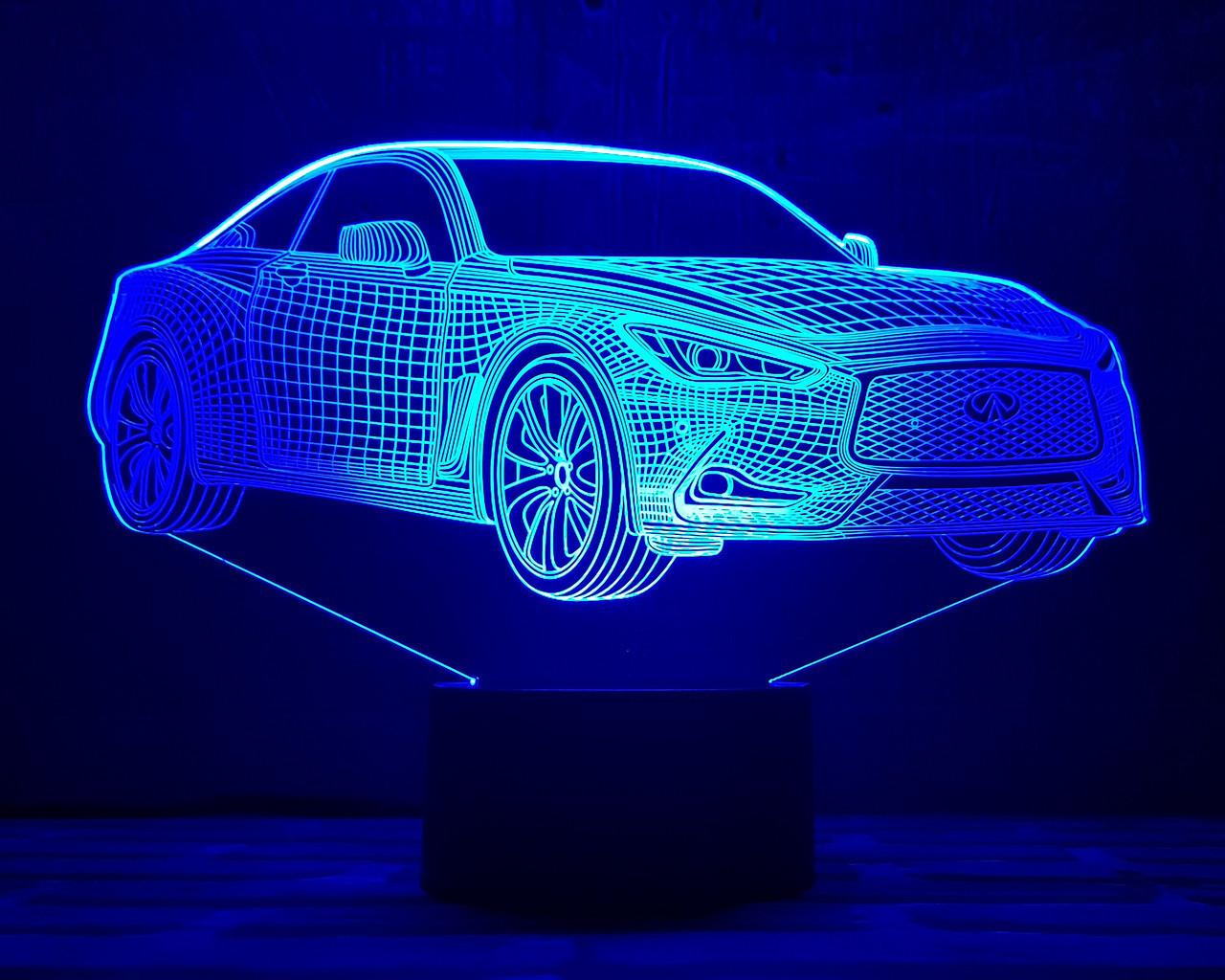 """Сменная пластина для 3D светильников """"Автомобиль 21"""" 3DTOYSLAMP"""