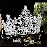 VIPs Розкішна висока корона з Діамантами ювелірними (цирконій), фото 4