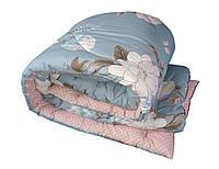 Одеяло из овечьей шерсти Бязь двуспальное летнее голд 100%-овечья шерсть плотность 380г/м2, 180x220см.