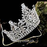 VIPs Розкішна висока корона з Діамантами ювелірними (цирконій), фото 6