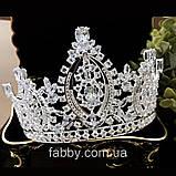 VIPs Розкішна висока корона з Діамантами ювелірними (цирконій), фото 7