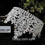 VIPs Розкішна висока корона з Діамантами ювелірними (цирконій), фото 8